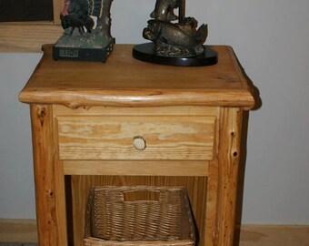 Cedar Log and Pine Side Cabinet