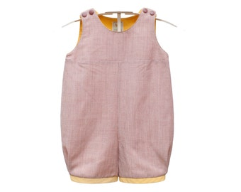 Baby Bib cotton and linen. Romper, dungaree for Babies, toddlers and newborns. Sizes 0 to 18 months - PROVENCE - alualiule - Alua Liulé