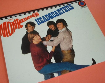 The Monkees Journal record album notebook 8 1/2 x 11