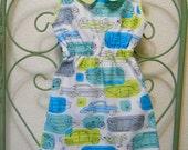 Handmade Organic Cotton Peter Pan Collar Dress, Sizes 12 Months - 4T