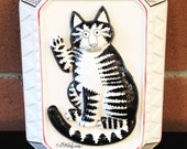 70s/80s B. Kliban Cat Ceramic Wall Hanging Art Plaque Vintage!