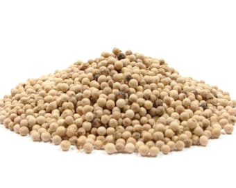 White Peppercorn, Whole - 4oz- Prized Peppercorn Hotter than Black