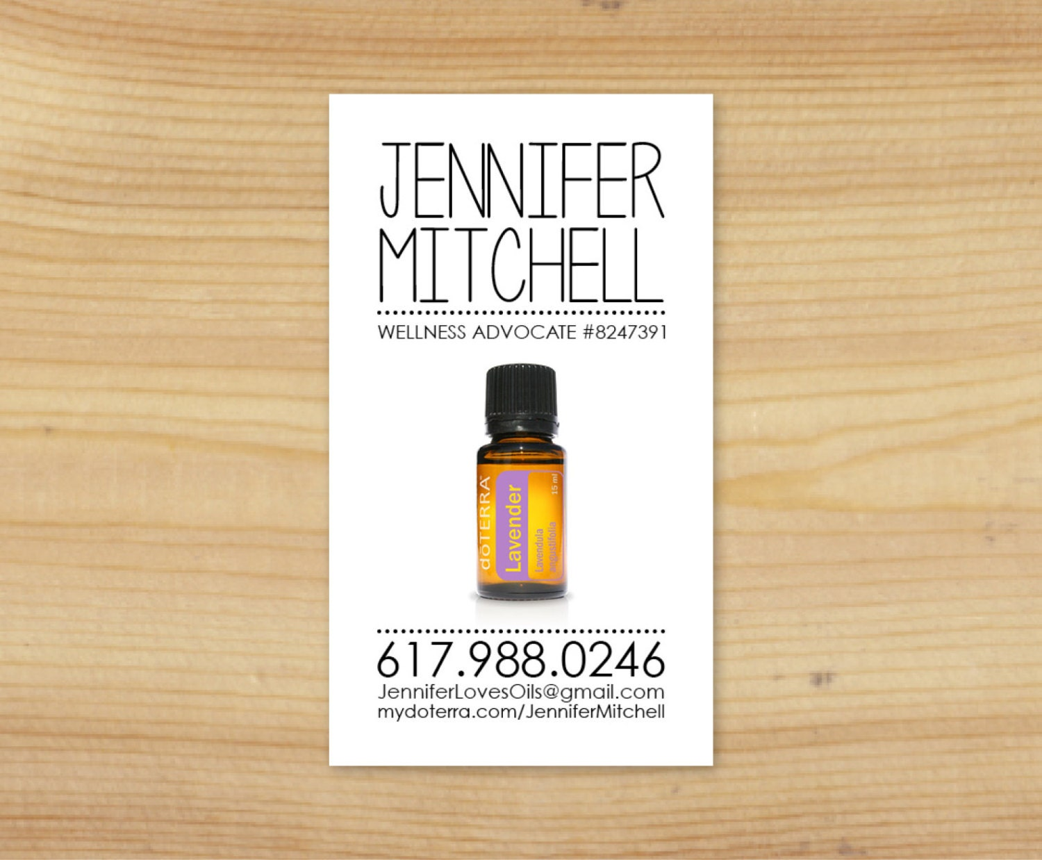 cool essential oil business card design dōTERRA by TheOilsMama