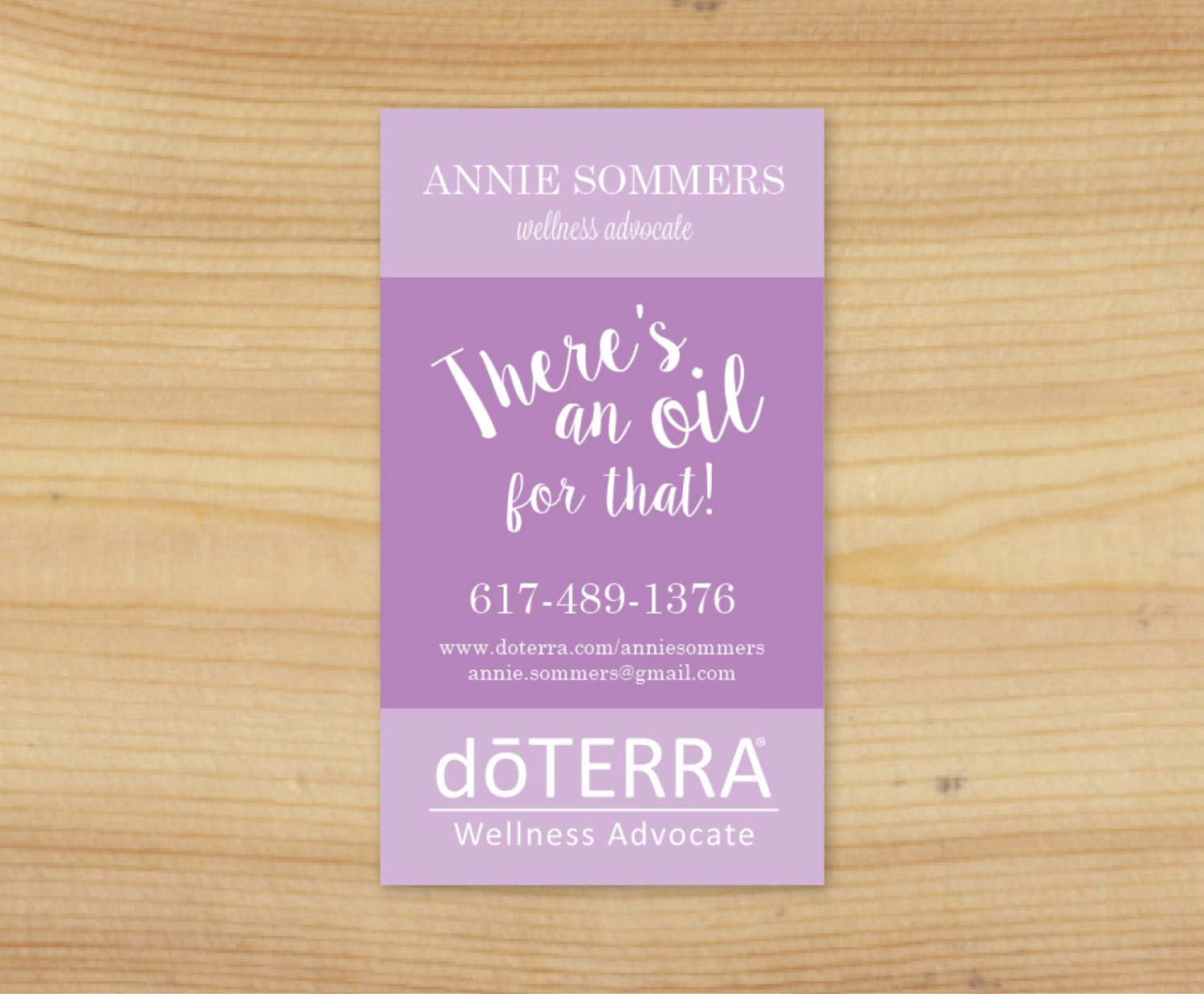 colorful essential oil business card design by TheOilsMama
