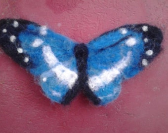 felted butterfly hair clip brooch, patch