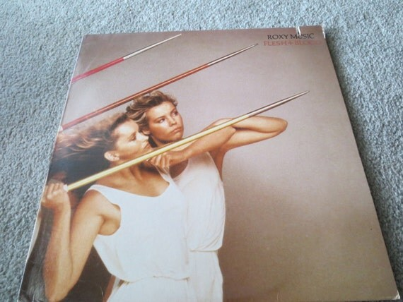 David Jones Personal Collection Record Album - Roxy Music - Flesh And Blood