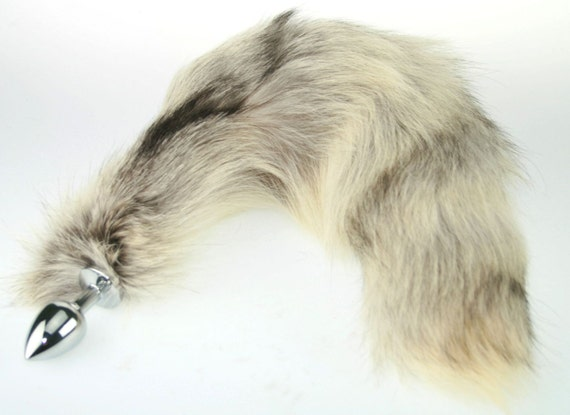 Xl Unique Real Fur Fox Tail Butt Plug 16 Real Fur By Sporkwood-4343