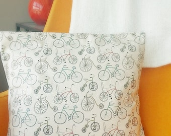 Vintage Bicycle Pillow Case