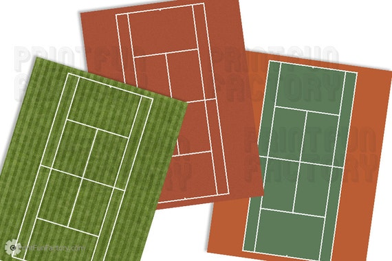 how to draw a tennis court on paper