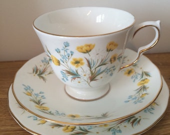 Colclough bone china floral trio