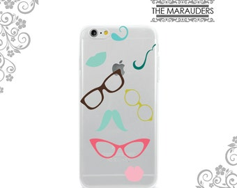 Colorful Eyeglasses Sunglasses Soft Flexible iPhone Case Clear  iPhone 7,7Plus Case Galaxy S7 Edge Note 4,5 iPhone 6,6 Plus Case UV0169