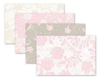 Floral envelopes 4x6 Envelopes Printable envelope template pastel Shabby chic Digital download printable PDF Wedding envelopes