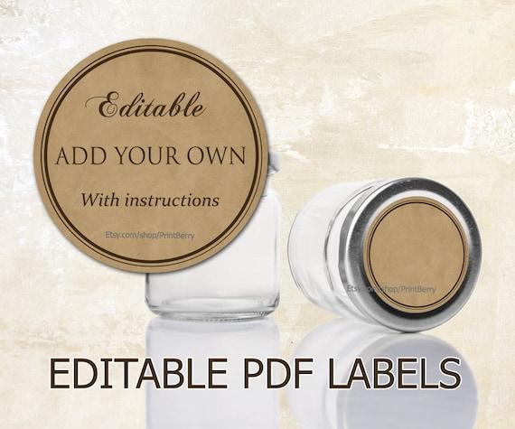 editable labels craft paper tags labels for mason jars. Black Bedroom Furniture Sets. Home Design Ideas