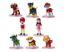 Paw Patrol CAKE TOPPER Ryder Katie Marshall Chase Skye Rubble Rocky Zuma 8 Figure Set Birthday Party Cupcakes Figurines * FAST Shipping *