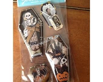 Jolee's Boutique Vintage Coffins ~ 50-50735 ~ craft stickers