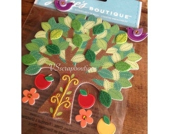 Jolee's Boutique Colorful Stitched Tree~   Dimensional Scrapbooking/craft stickers