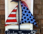 SAILBOAT, Unfinished Wooden Shape, Paintable Wooden Craft