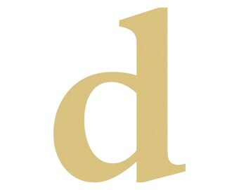 Unfinished LOWERCASE Letter (d) TIMES Paintable
