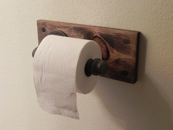 articles similaires support papier toilette industriel fer noir sur etsy. Black Bedroom Furniture Sets. Home Design Ideas
