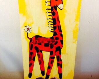 Retro/MCM Giraffe Wall Art- nursery wall art-kitsch