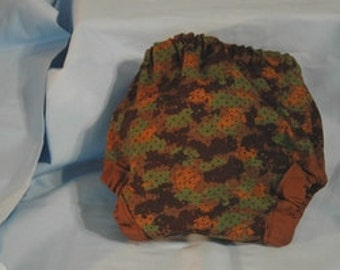 Camoflouge diaper cover infant sz. small