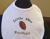 Little 49er Bib (can be personalized)