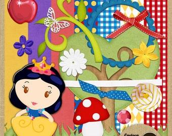 Cute Snow White Digital Scrapbooking Kit from Carioca Digital