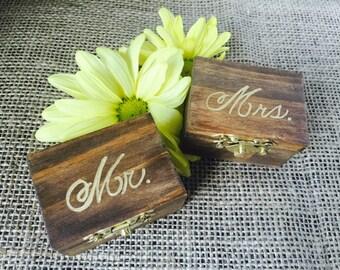 Wedding Ring Box / Rustic Wedding / Wooden Ring Box