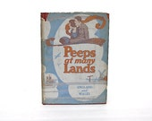Vintage Children's Book - Peeps At Many Lands England Wales - Peeps Series Travel Books - Children's Room Decor -  Illustrations