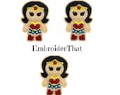 UNCUT Wonder lady applique embellishment felties (3)