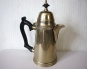 Vintage Silver On Brass Small Coffee or Teapot