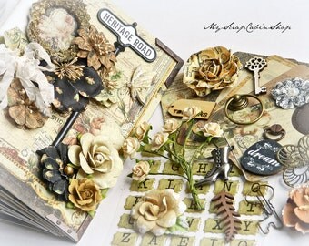 Mini Album Kit // Premade Mini Album Scrapbook Kit // Album Kit // Heritage, Photo Album // Photo Book, Love, Wedding Gift
