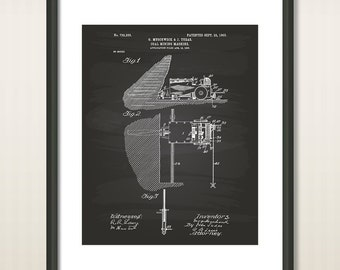 Coal Mining Machine 1903 Patent Art Illustration - Drawing - Printable INSTANT DOWNLOAD - Get 5 Colors Background