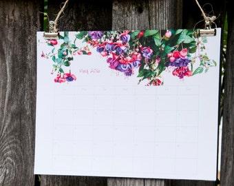 Wall Calendar 2018, 2018 Calendar with Field of Flowers, Large Calendar 2018