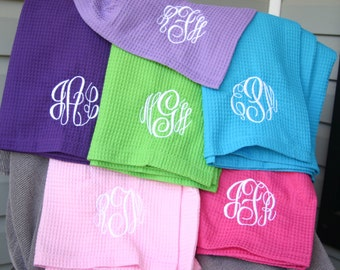 10 Personalized Bridesmaid Gifts Monogrammed Spa Wraps 12 Colors