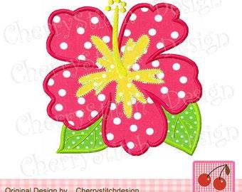 Hibiscus flower,Hawaii flower Machine Embroidery Applique Design - 4x4 5x5 6x6 inch