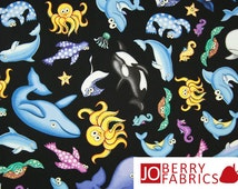Under the Sea Fabric by Mandy Jo for Blank Quilting, Quilt or Craft Fabric, Fabric by the Yard