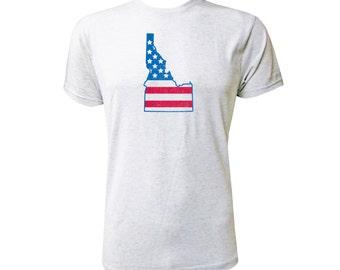 Idaho American Flag - NLA Heather White