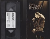This is Michael Bolton VHS Tape!  Vintage!  1992!