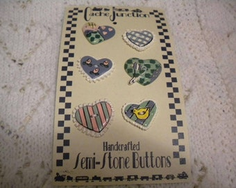 Specialty Buttons - Hearts - Your Signature