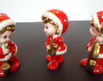 Inarco Red Dot Carolers with Instruments - Set of 3