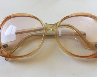 70s Eyeglass Frames - Big Eye Lens Eyeglasses - Ombre Shades