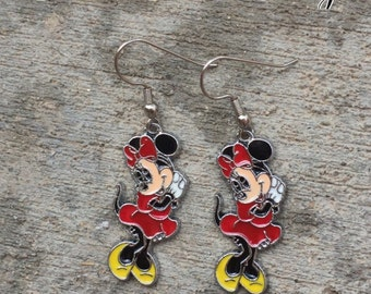 Minnie Mouse Red Disney Earrings