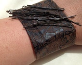 Bobby Pin Bracelet - Hairstylist Bracelet - Magnet Bracelet - Wrist Pin Cushion - Bobby Pin Holder - Faux Tooled Leather - Hairstylist Gift