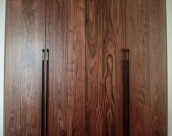 Walnut Solid Doors with Iron Handles