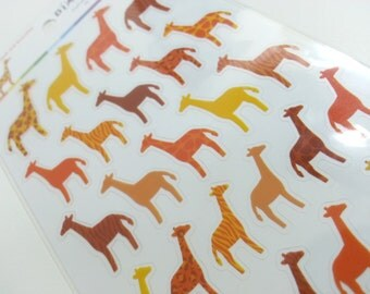 Sales: Lovely  Giraffe Stickers  - 1 sheet