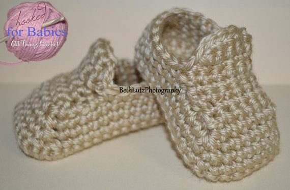 Size 3-6 Months Handmade Crochet Baby Shoes baby boy booties