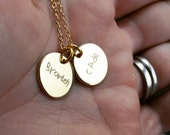 Sterling or Gold Filled Engraved Handwriting Necklace, Mom Jewelry, Kids' Initials Necklace, Mother's Day Gift, Custom Personalized Jewelry