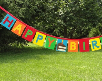 Fabulous Felt Birthday Banner - Felt Happy Birthday Banner - Birthday Banner Decoration - Cake Birthday Banner-Birthday Cake-Birthday Decor