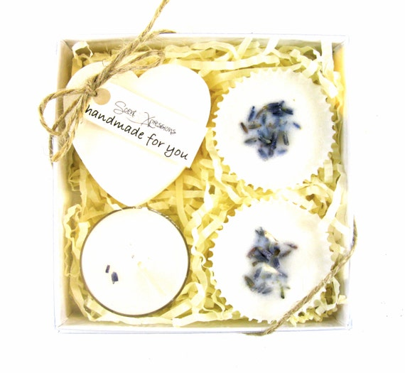 Lavender Soap. Spa Gift Set. Gift for her. Spa Gift. Skin Care. Sensitive Skin Luxury Soap. Soy Tea Lights. Bath Melts. Bridal Shower Favor